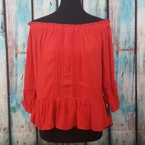 NWT Harlowe & Graham Off-the-Shoulder Blouse